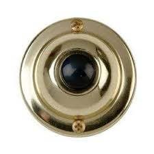 Round Single Door Bell Button